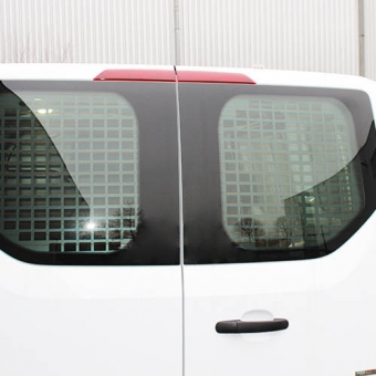 Window guard for twin door with or without wiper Ford Transit Custom 2012+